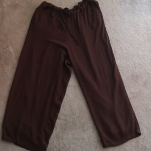 Avenue slacks pants chocolate brown 18 / 20